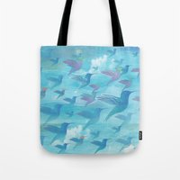 wings Tote Bags featuring Wings by sandesign