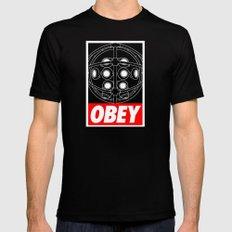 OBEY - Big Daddy Black Mens Fitted Tee MEDIUM