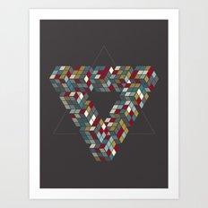 Rubik's Triangle Art Print