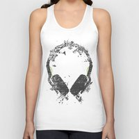 carnage Tank Tops featuring Art Headphones V2 by Sitchko Igor