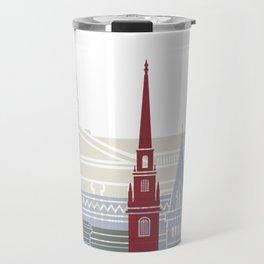 Harvard skyline poster Travel Mug