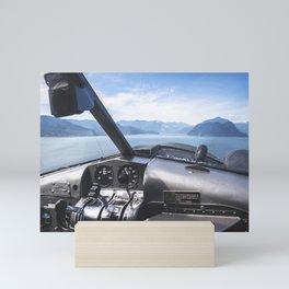 seaplane flying Mini Art Print
