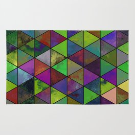 Textured Triangulation - Abstract, geometric triangles Rug