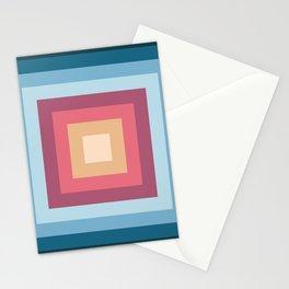 Retro Rainbow Squares Stationery Cards