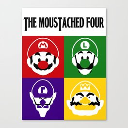 THE MOUSTACHED FOUR Canvas Print