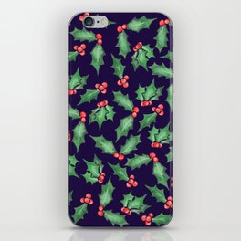 Watercolor Holly iPhone Skin