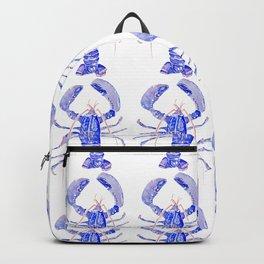 Blue Lobster Homard pattern Backpack