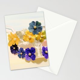 Floral Masquerade Mask Stationery Cards