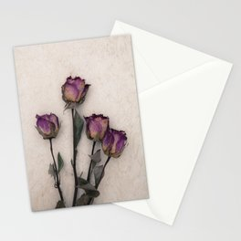 four dried roses Stationery Cards