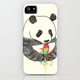 Panda Loves Ice Cream iPhone Case