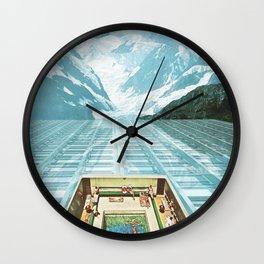 Glacial Bathing Wall Clock