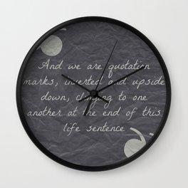 Quotation Mark Dark Wall Clock