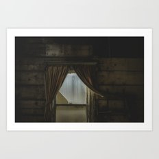 my window looked out upon nothing Art Print
