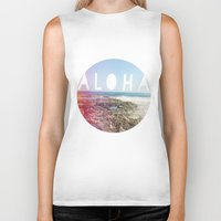 aloha Biker Tanks featuring Aloha by Sunkissed Laughter
