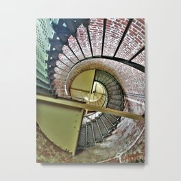 Lighthouse Spiral Staircase Metal Print