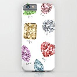 Gems pattern iPhone Case
