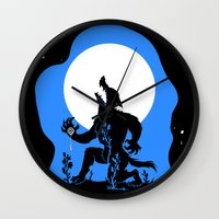werewolf Wall Clocks featuring Werewolf by JoJo Seames