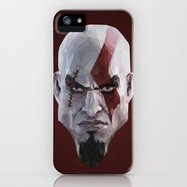 Triangles Video Games Heroes - Kratos iPhone Case