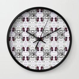 Roses Black Widow Wall Clock
