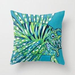 Lion Fish 1, a pretty predator Throw Pillow