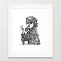 kate moss Framed Art Prints featuring Kate Moss by Anja-Catharina