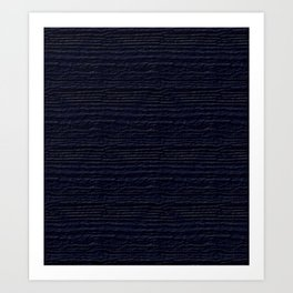Peacoat Wood Grain Color Accent Art Print