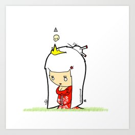 Japanese Princess Art Print