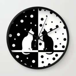 Black and White 82 Wall Clock