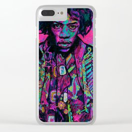 rock and roll in pink Clear iPhone Case
