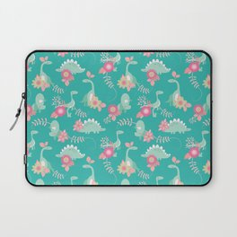 Floralsaur - Pink & Blue Laptop Sleeve