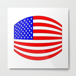 USA Stars and Stripes Flag Wide Metal Print