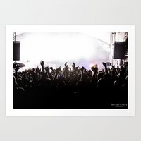 concert Art Prints featuring Concert by Bridget Craig