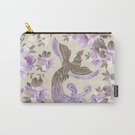 Phoenix Bird with watercolor flowers Carry-All Pouch