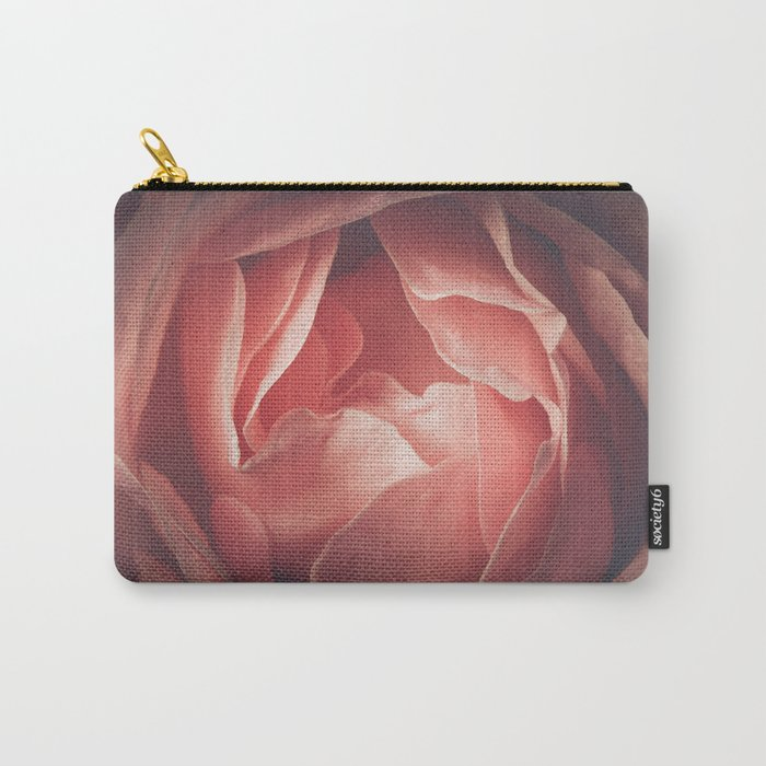 Pastel pink rose flower blossom Carry-All Pouch