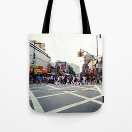 Typical Day in Flushing, Queens in New York City Tote Bag
