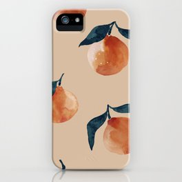 Spring Clementine Home Decor Oranges by Erin Kendal iPhone Case