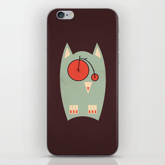 Vintage Bikeowl iPhone & iPod Skin