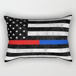 Fire Police American Flag Rectangular Pillow