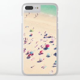 beach summer in love Clear iPhone Case