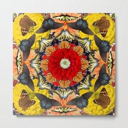 Persian carpet butterflies Metal Print