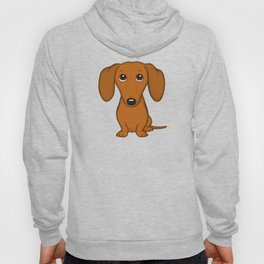 Shorthaired Dachshund Cartoon Dog Hoody