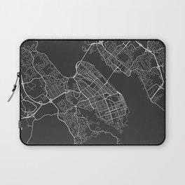 Halifax Map, Canada - Gray Laptop Sleeve