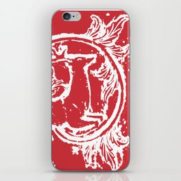 twin dancing stags of asheville from a wood carving iPhone Skin