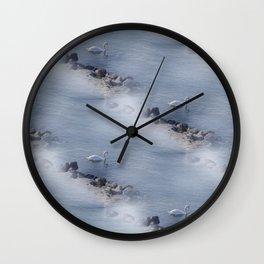 swan pattern Wall Clock