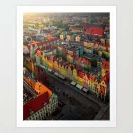Colorful houses in Wroclaw, Poland Art Print