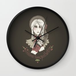 Welcome home good hunter Wall Clock