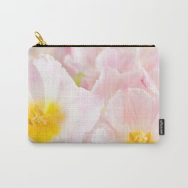Light pink tulip macro inside Carry-All Pouch