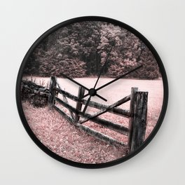 Pink landscape Wall Clock