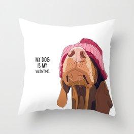 Vizsla Valentine Throw Pillow