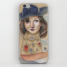 PIRATE ROBOT MERMAID iPhone & iPod Skin